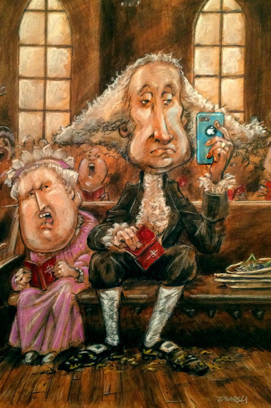 Thomas Marsh Creations artist Los Angeles art artwork color painting illustration caricature George Washington