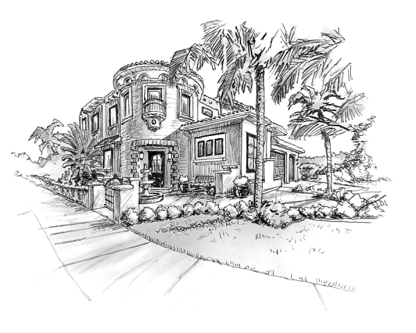 home, house, portrait, realtor, gift, art, drawing, sketch, illustration