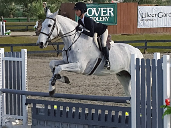Breanna 2016 competiting in the 3' ring.