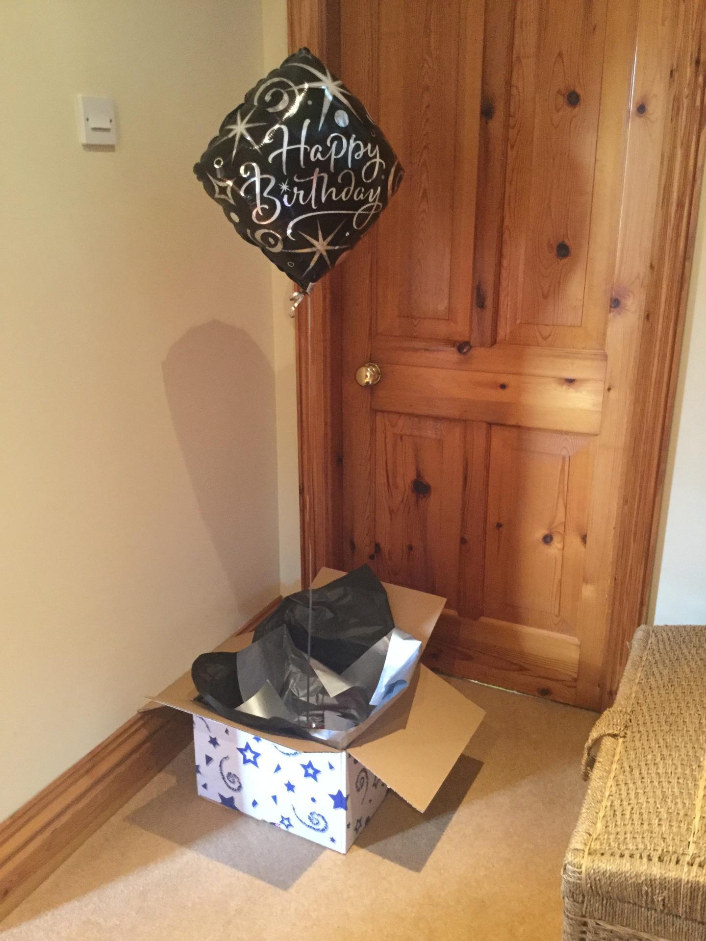 Balloon on a box