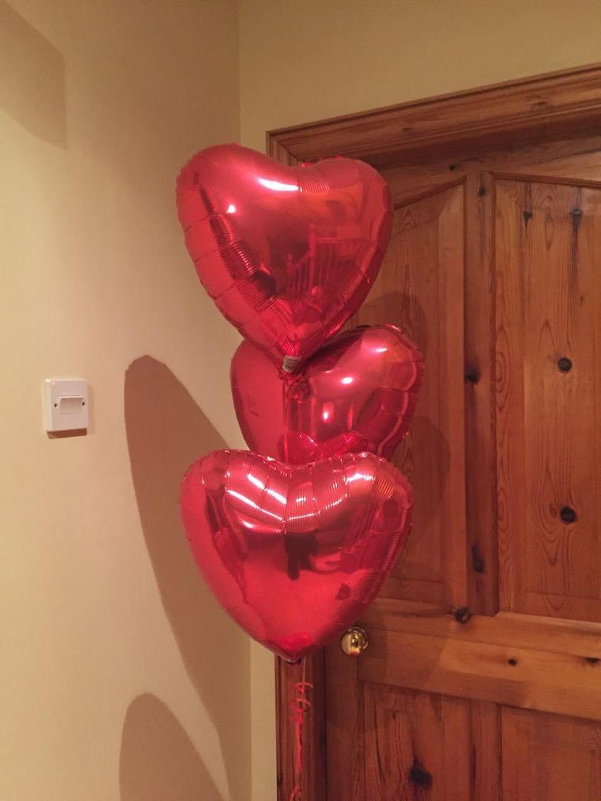 Valentines foil bouquet