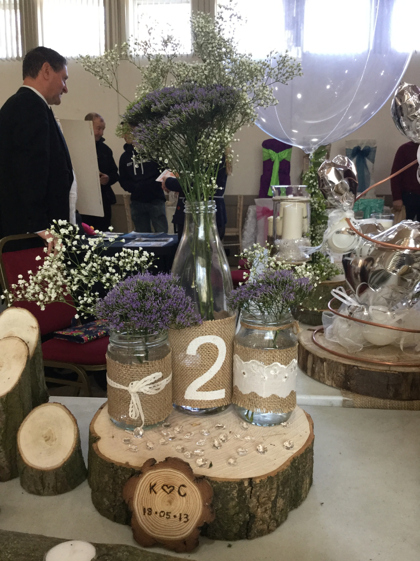 Log slice - table centre piece