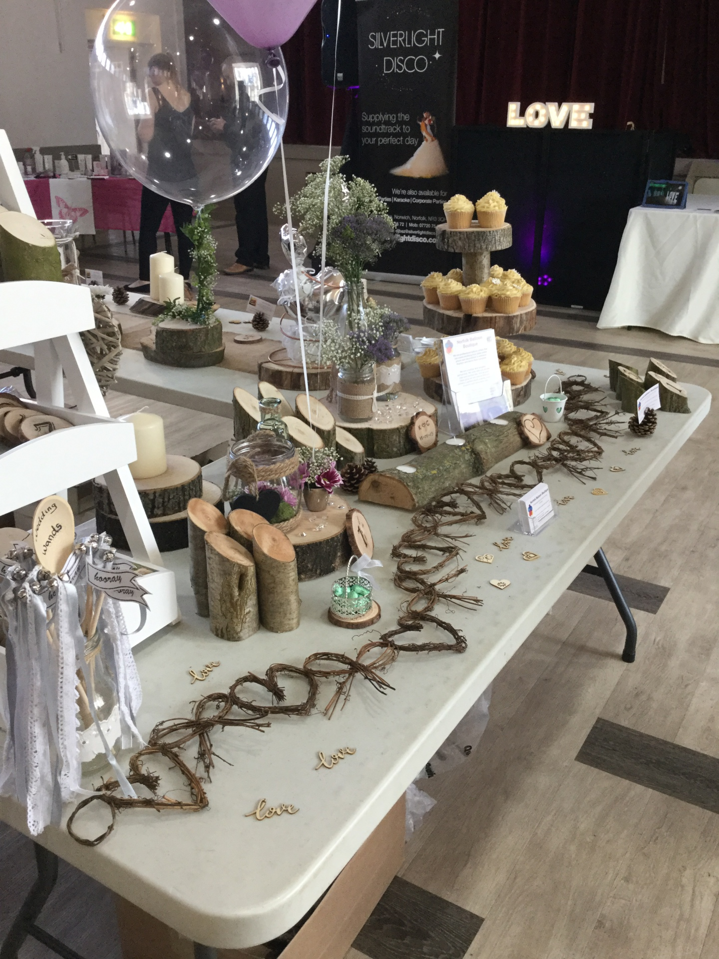Log slices - wedding fayre