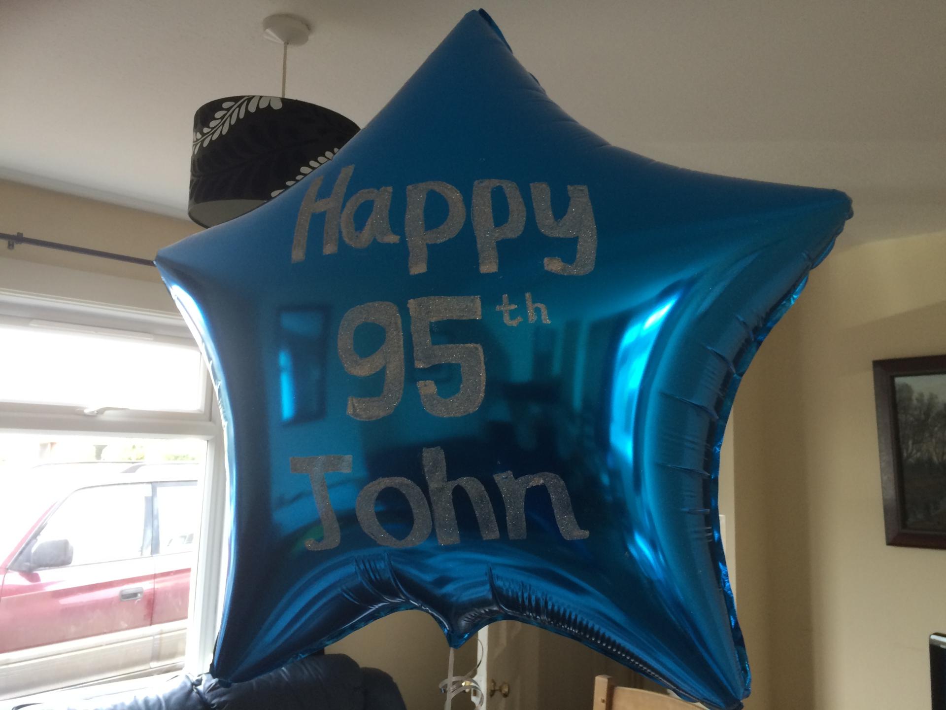"""36"""" foil balloon , glitter written"""