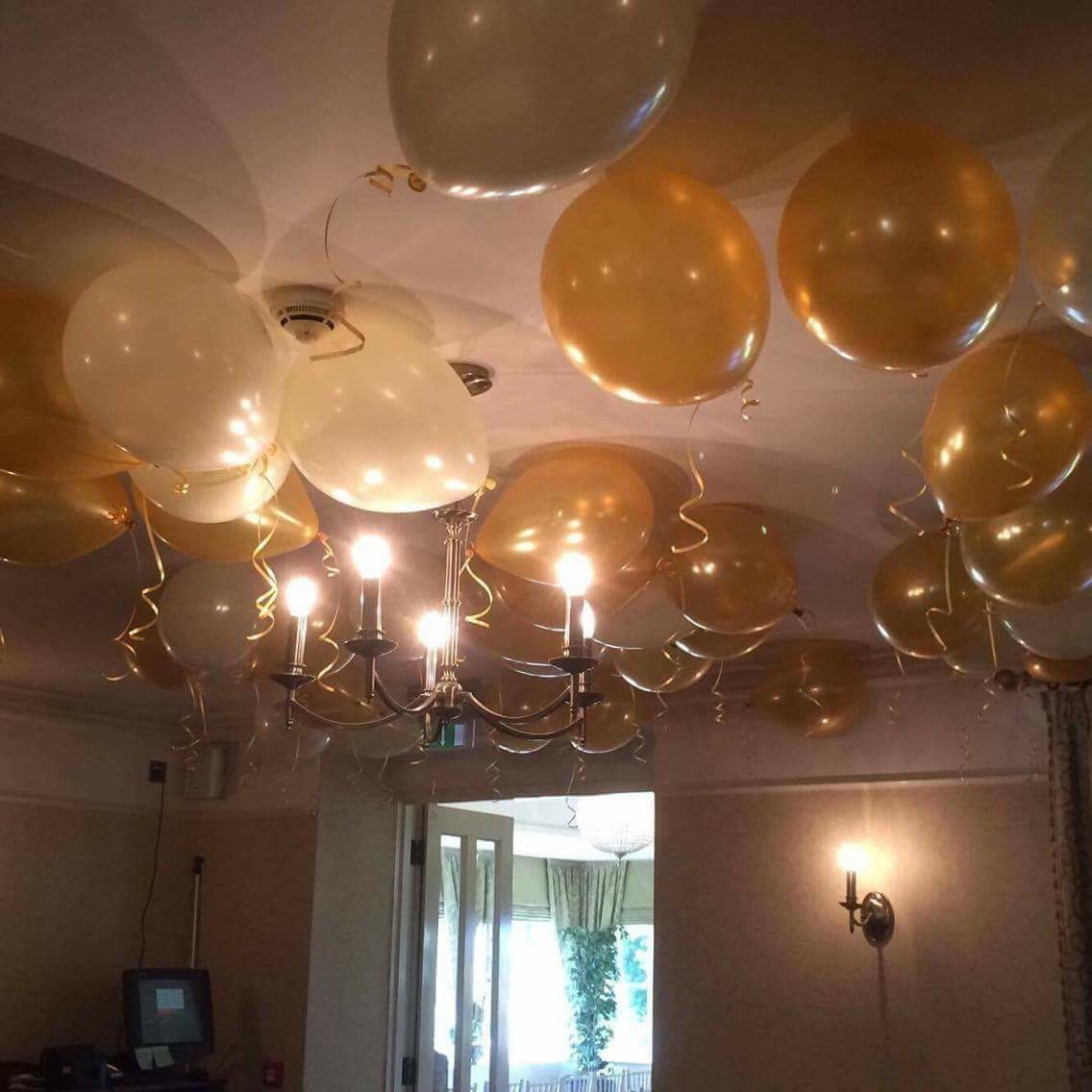 Scattered latex balloons