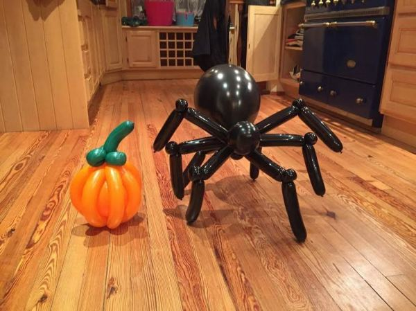 Hand made Spider and Pumpkin