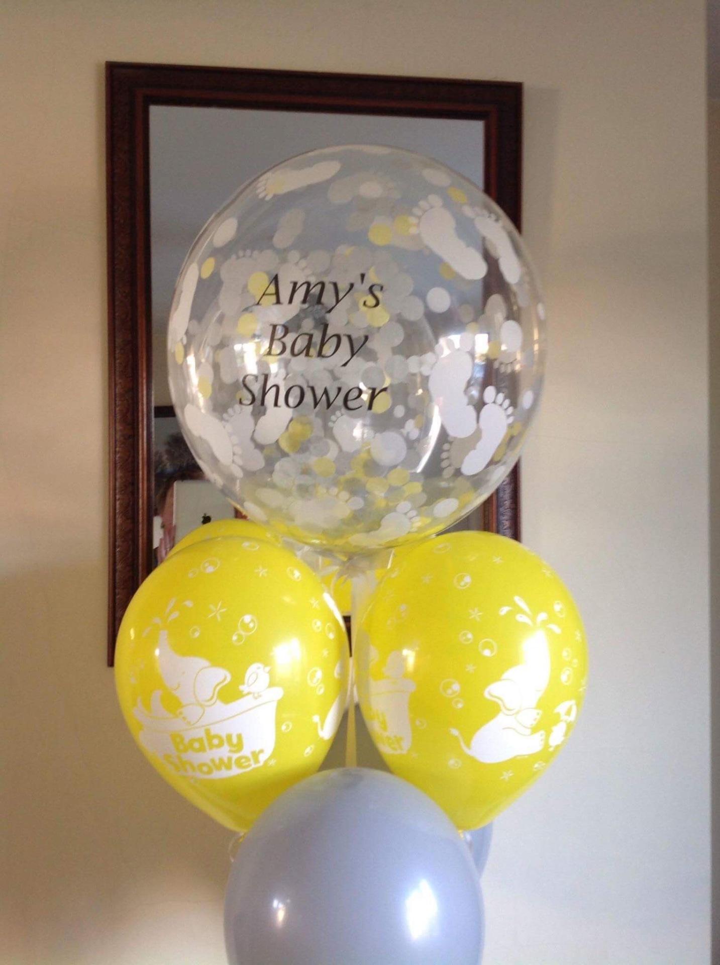 Personalised confetti bubble bouquet