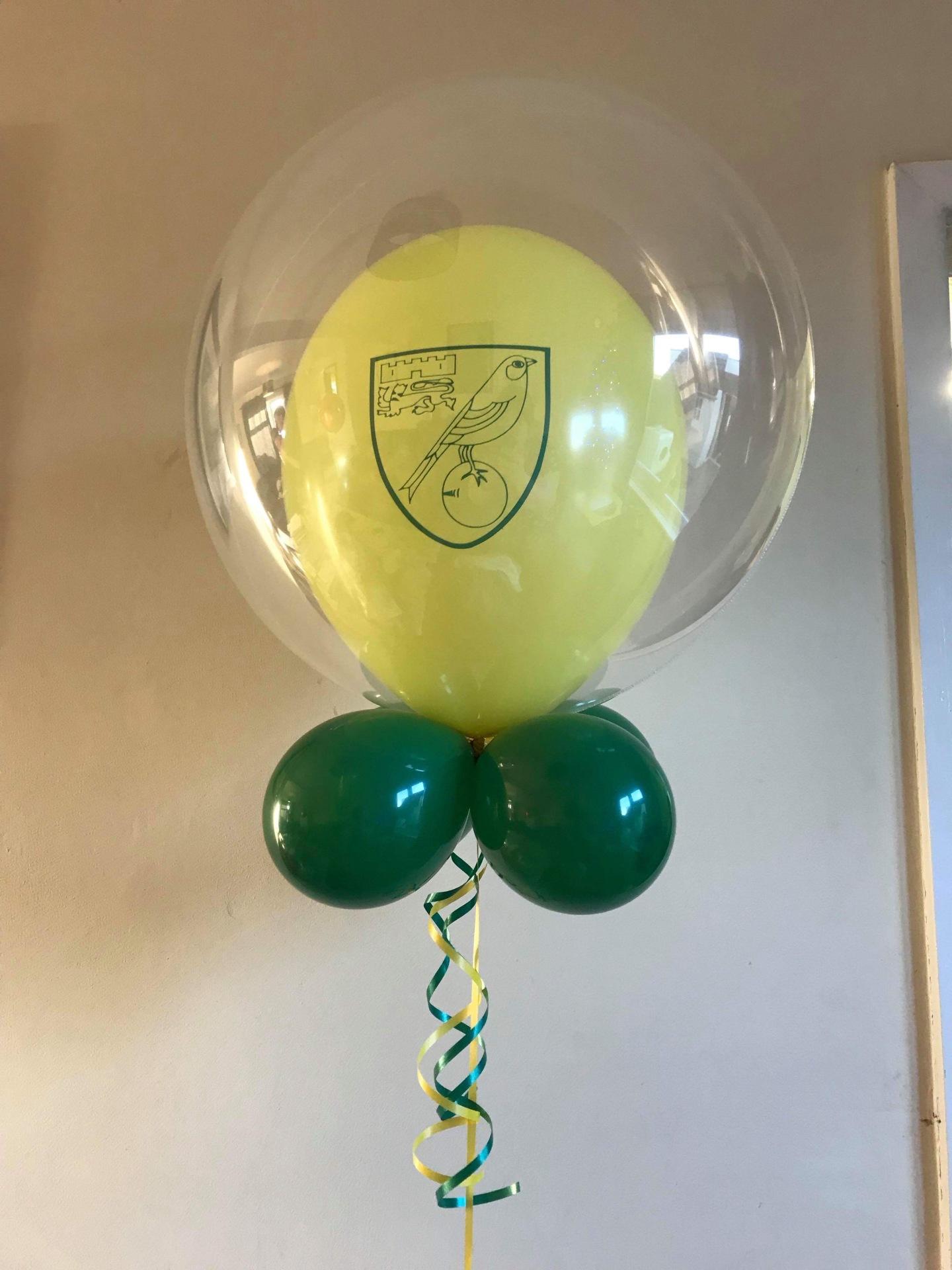 Norwich City bubble balloon