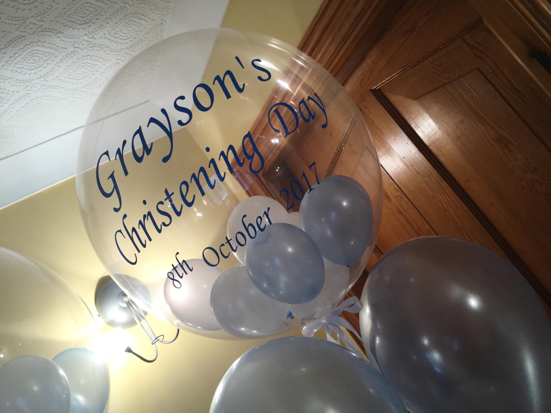 Christening bubble