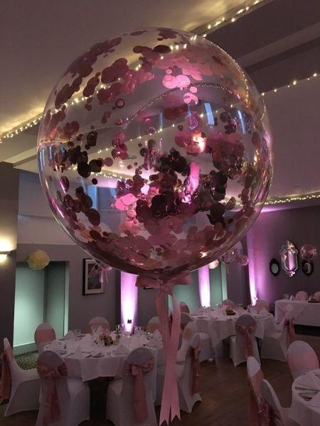 Rose Gold Confetti Bubble
