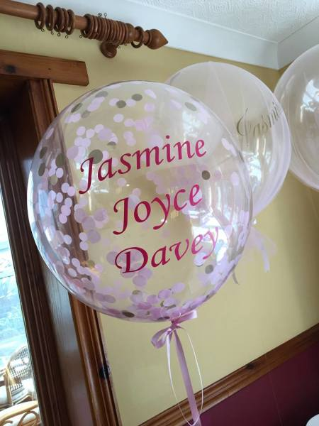 personalised confetti bubble