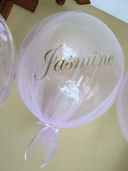 personalised tulle covered bubble - Christening