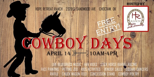 Cowboy Days 2018 - Bring the whole family!!