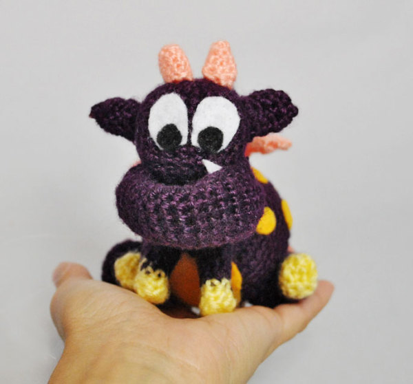 monster crochet pattern, amigurumi, free, crochet, pattern, monster, cute, pokedot, polka dots