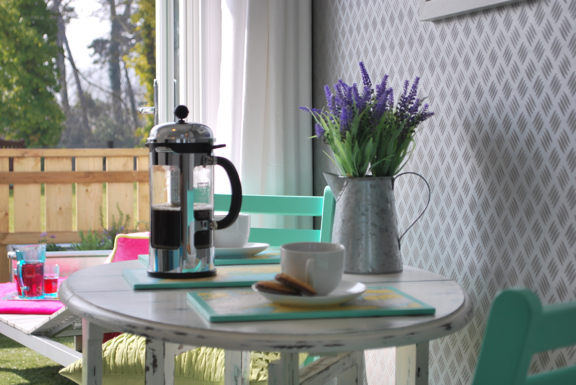 Dunster, luxury, Beach, hut, Salad, Days, coffee, lavender, fresh, relax, view