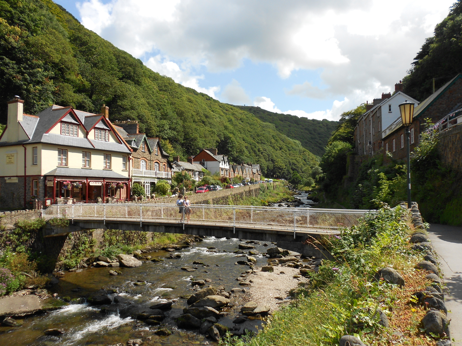 somerset, dunster, beach, hut, salad, days,Glen, Lyn, Gorge, Lynton, and, Lynmouth, Devon
