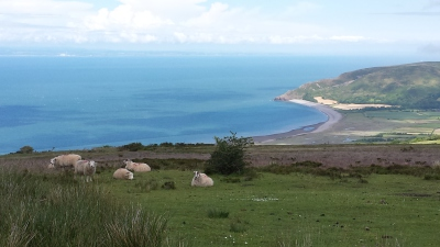 somerset, dunster, beach, hut, salad, days, Porlock Bay, Exmoor, view