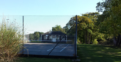 Dunster, beach, hut, salad days, beach hut, chalet, dunster beach, tennis, tennis court, pavilion