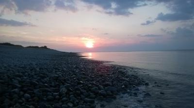 Dunster, beach, hut, salad days, beach hut, chalet, dunster beach, sunset