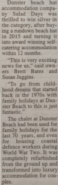 dunster, beach, salad, days, dunster beach hut, ultimate, beach, hut, daily, west, somerset, free, press, wsfp