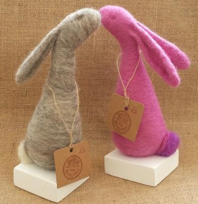 Bunny, Rabbit, Moon gazing hare, The Fuzzy Hut, Needlefelting, Somerset, Etsy