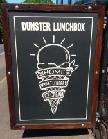 Dunster, beach, hut, salad, days, bedroom, image, beach, hut, chalet, dunster, beach, dunster lunchbox, coffee, ice cream, styles