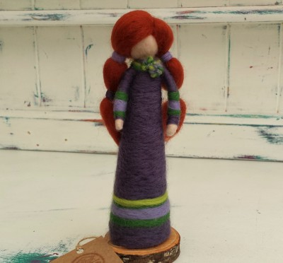 Figure, The Fuzzy Hut, Needlefelting, Somerset, Etsy, Needle Felted Fairy
