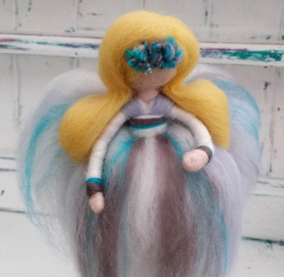 Needle Felted Fairy, Fairy, The Fuzzy Hut, Needlefelting, Somerset, Etsy