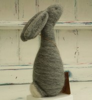 Needle Felted Animal, Needle Felted Rabbit, Bunny, Rabbit, Moon gazing hare, The Fuzzy Hut, Needlefelting, Somerset, Etsy