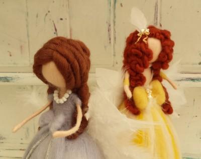 Christmas Tree Angels, Christmas Tree Fairy, Figure, The Fuzzy Hut, Needlefelting, Somerset, Etsy, Needle Felted Fairy