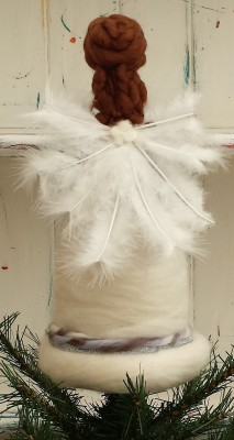 Christmas Tree Angels, Christmas Tree Fairy, Figure, The Fuzzy Hut, Needlefelting, Somerset, Etsy, Needle Felted Fairy