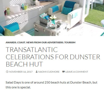dunster, beach, dunster beach, salad days, dunster beach hut, ultimate beach hut, somerset, visit england,  exmoor magazine