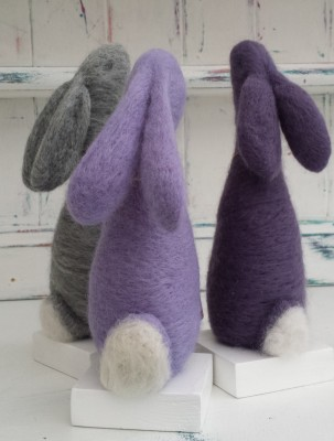 Bunny, Rabbit, Moon gazing hare, The Fuzzy Hut, Needlefelting, Somerset, Etsy