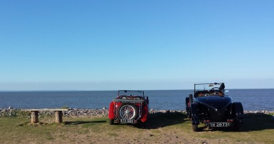 Vintage Car, Dunster Beach, Dunster, Somerset, Dunster Beach Hut, Beach Hut, Salad Days