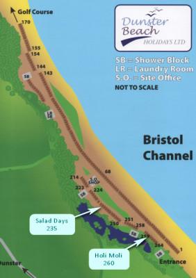 Dunster, beach, hut, salad, days, bedroom, image, beach, hut, chalet, dunster, beach, site map