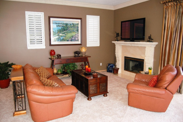 Owner Occupied Home Staging, Melbourne, Florida, home Staging, Formal Living Room