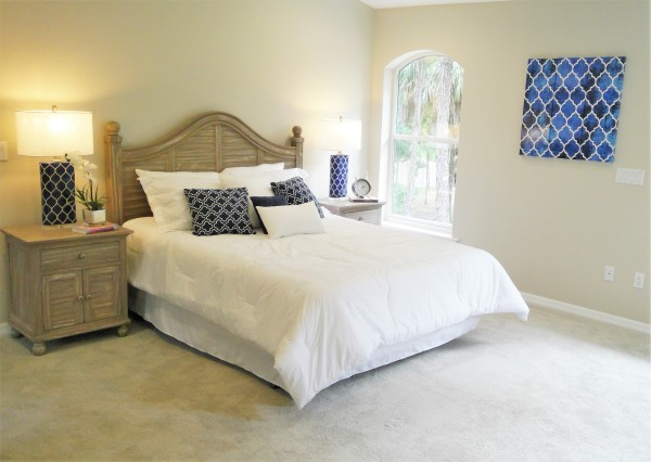 Owner Occupied Home Staging, Titusville, Florida, home Staging, Master Bedroom