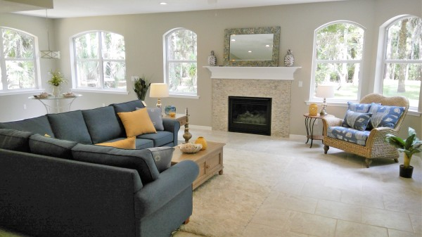 Owner Occupied Home Staging, Titusville, Florida, home Staging, Family Room