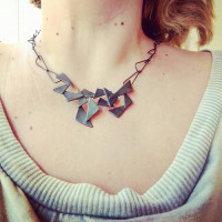 artistic necklace, artist, art jewelry, handmade, craft, unusual, geometric, contemporary jewelry