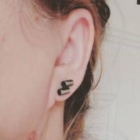 metallic, handmade silver earrings, oxidized silver studs, handmade earrings, perfect gift, handmade jewelry, naakit, lydia redovnikovic