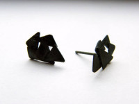 small earrings, sculptural silver studs, oxidized silver post earrings, handmade jewelry, edgy, contemporary art jewelry, silversmith, naakit, lydia redovnikovic