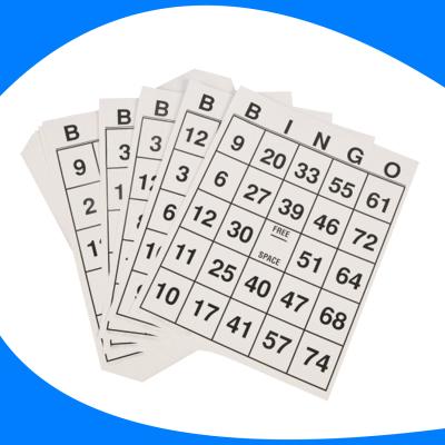 Tarjeta de bingo extra larga