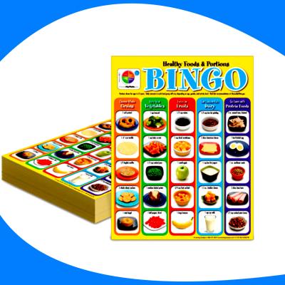 Tarjeta de bingo de comida