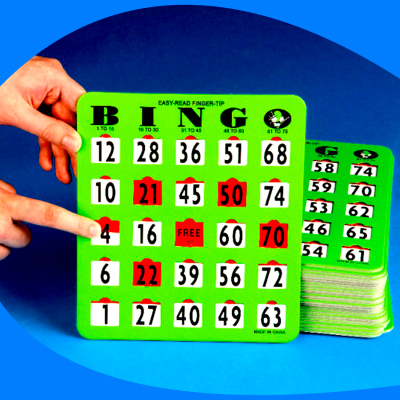 Tarjetas de bingo JUMBO (Variante 2)