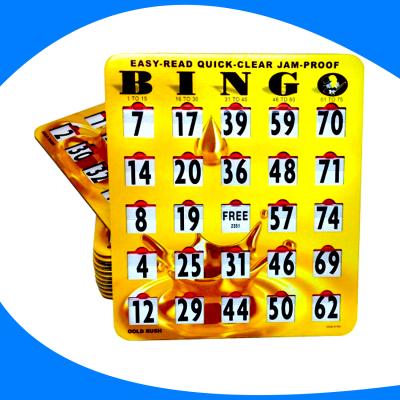 Tarjeta de bingo ilustrada