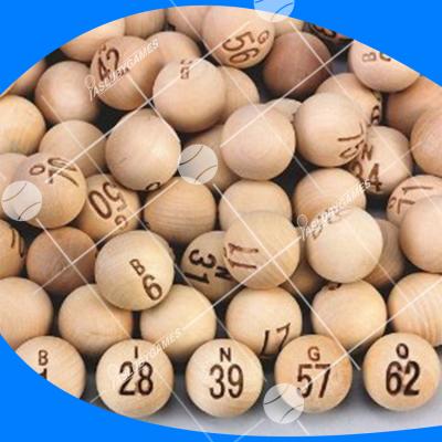 Bolas de bingo de madera