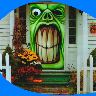 Door Cover Angry Monster