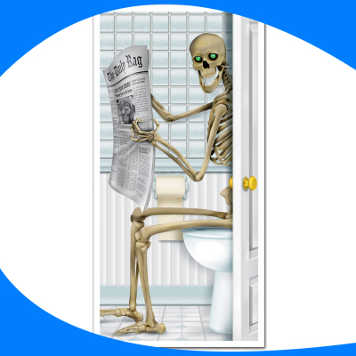 Door Cover Skeleton Bath