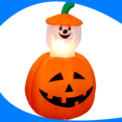 Inflatable Pumpkin and Ghost Animated