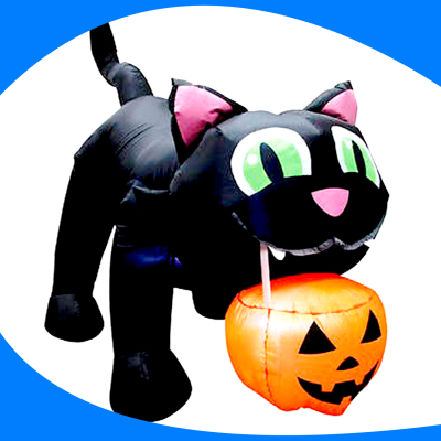 Big Black Cat (Halloween Style)